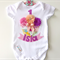 Perfectly Peach, Pink & Purple Cupcake 1st Birthday Design Onesie, Tee, Singlet
