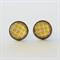 Yellow & White Pattern Stud Earrings