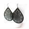 Black Filigree Statement Earrings
