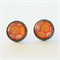 Yellow and Orange Circle Stud Earrings