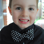 Bow Tie - polka dots, toddler, baby, boy, photography prop, bowtie, black