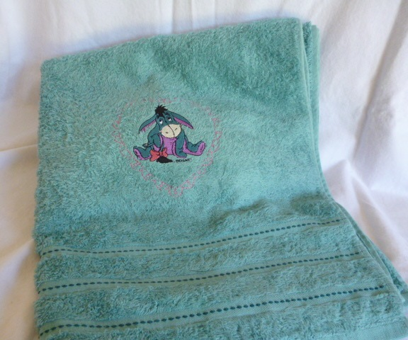 Embroidered Children 39 S Bath Towel With Eyeore Trufio Embroi