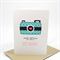 Happy Birthday Card - Female - Blue Camera Say Cheese - HBF123