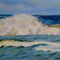 "Ocean, Beach, Waves - Pastel Painting PRINT - Paintings Prints 10""x8"""