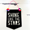 Word Up! Shine Like The Stars Acrylic Banner - Black