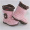 Crocheted Baby Goshalosh Booties. Size 0-3 months - 6-12 months