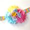 Rainbow Rose Headband Girls Headband Flower Girl Photo Prop