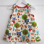Three Bears Pinafore Dress - Size 1