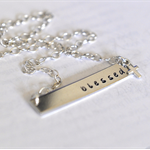 Blessed Nina Necklace Bar Necklace Religious Cross Jewelry Sterling Silver Bar