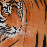 "Tiger, PRINT, Watercolour painting, 10x8"" Wall art"