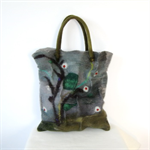 Felted Bag Purse Handbag Felt Wool Grey