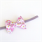 Liberty of London Petite Bow - Floral Print - Pink & Grey - Velvet Band