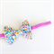 Liberty of London Petite Bow - Flecks - Blue Green Fuchsia Pink - Velvet Band