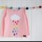 """Rainy Day""  Rainbow, pink, girls, applique"