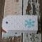 24 Embossed Snowflake Mini Gift Tags Parties ~ Weddings ~ Christmas
