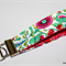 Key Fob  - Wristlet - Key Chain  - bag tag - quilted paisley