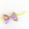 Liberty of London Petite Bow - Floral Print - Pink Orange Yellow - Velvet Band