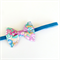 Liberty of London Petite Bow - Floral Print - Blue Yellow & Pink - Velvet Band
