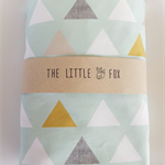 Stokke Sleepi Cot Crib Sheet in Mint Triangle