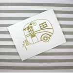 Kraft Vintage Caravan Letterpress Card