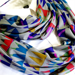Infinity Scarf - Multi Colour Triangles