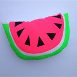 Neon Pop Hand Screen Printed Watermelon Cushion