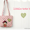 Tote bag for little girls | applique |  child's bag