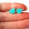 Mint Acrylic Laser Cut Post Earrings