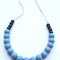 Silicone Teething Necklace Slate & Cloud