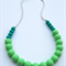 Silicone Teething Necklace Peacock & Mint