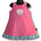 SIZE 3 Pink Corduroy Applique Embroidered Pinafore - OWL