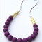 Silicone Teething Necklace Eggplant & Apple