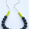 Silicone Teething Necklace Lime & Slate