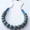 Silicone Teething Necklace Blueberry & Slate