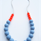 Silicone Teething Necklace Guava & Cloud