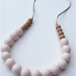 Silicone Teething Necklace Coffee & White