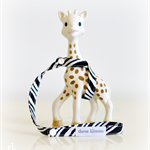 Sophie Keeper -  Zebra animal print (baby, teething, toy)