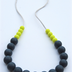 Washable Silicone Necklace Lime & Slate (hypoallergenic)
