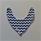 Bandana Dribble Bib - Navy Blue & White Chevron