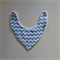 Bandana Dribble Bib - Blue & White Chevron