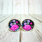 In Bloom - Glass Cabochon Stud Earrings