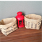 Set of 2 Hessian mini (burlap) baskets
