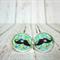 Moustache - Glass Cabochon Leaver Back  Earrings