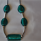 Handmade Glass Teal & Silver beaded necklace