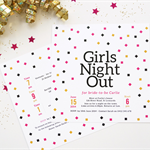 Printable Bachelorette/Hen's Night/Girls Night Out Invitation Double Sided- Conf
