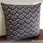 FREE SHIPPING Peacock & Aztec Collide Cushion Cover, Throw Pillow Faux Tapestry