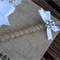 Burlap Pen to match Personalised Guestbook
