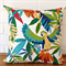 Outdoor Cushion Cover - Parrots in Ivory