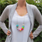 Donut Exposed Cord Necklace - Silicone Teething Necklace