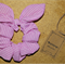 NEW rabbit ear hair scrunchie - checkered baby pink - Cotton polyester
